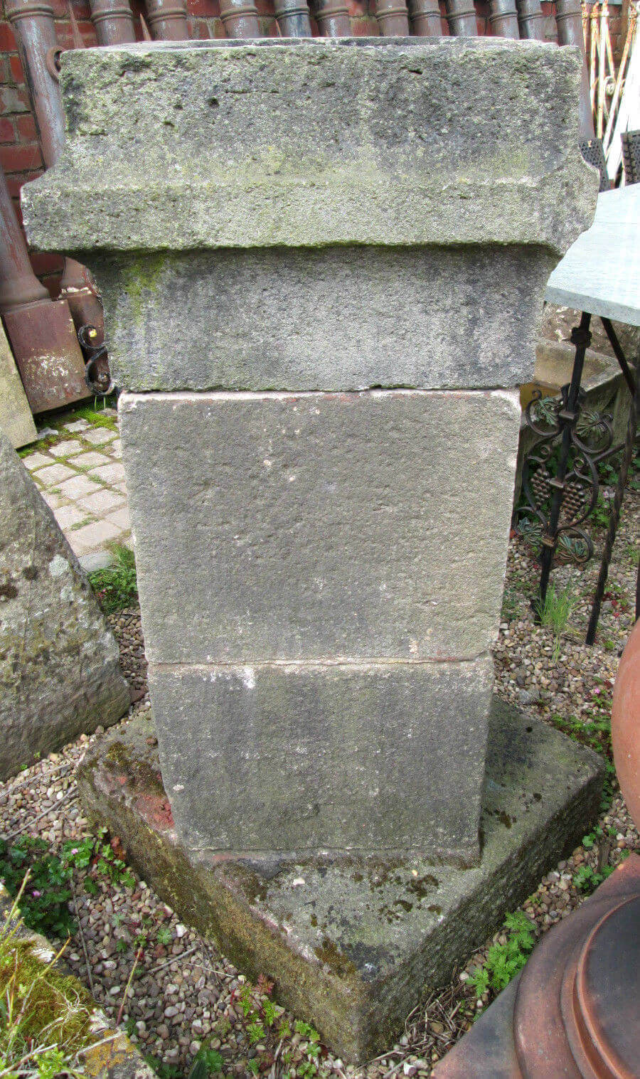 Pair of large reclaimed 19th century victorian stone for Stone chimneys