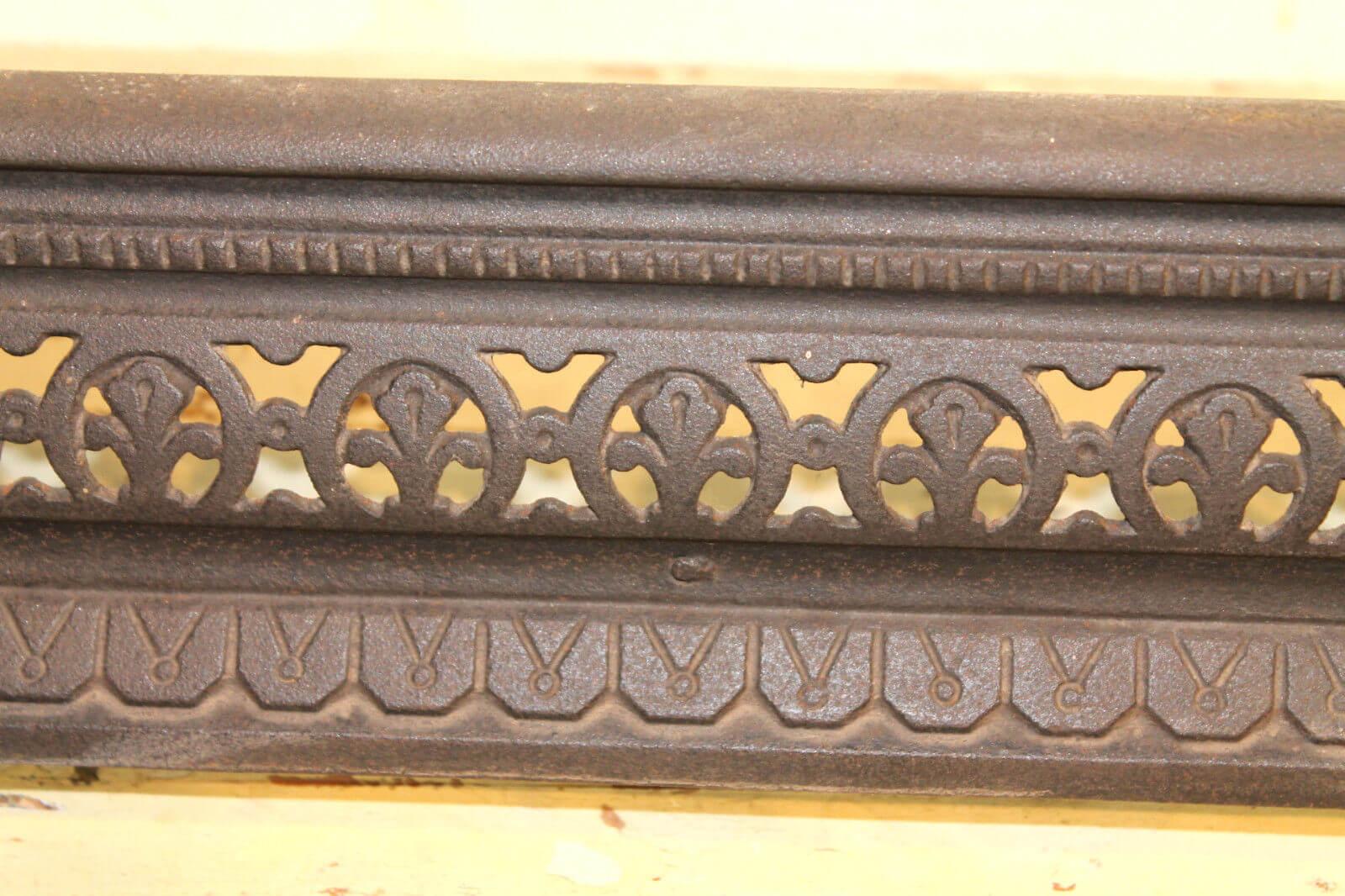 reclaimed antique victorian cast iron fire fender warwick