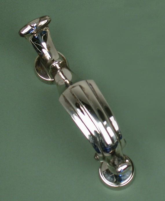 Antique nickel london doctors door knocker warwick reclamation - Nickel door knocker ...