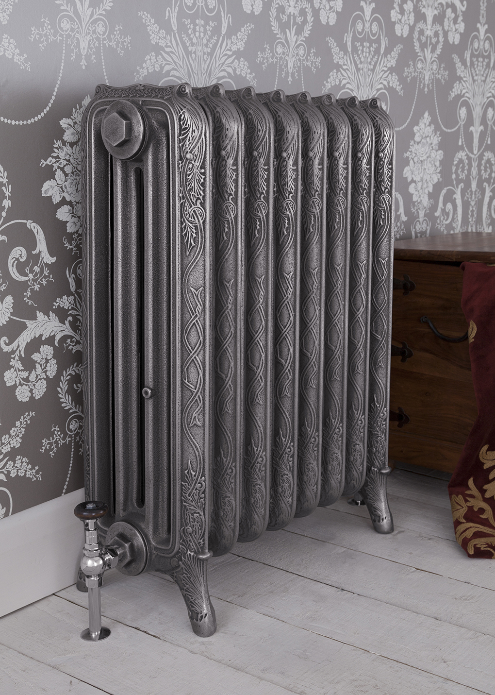 carron u0027the ribbon u0027 4 column cast iron radiator warwick reclamation