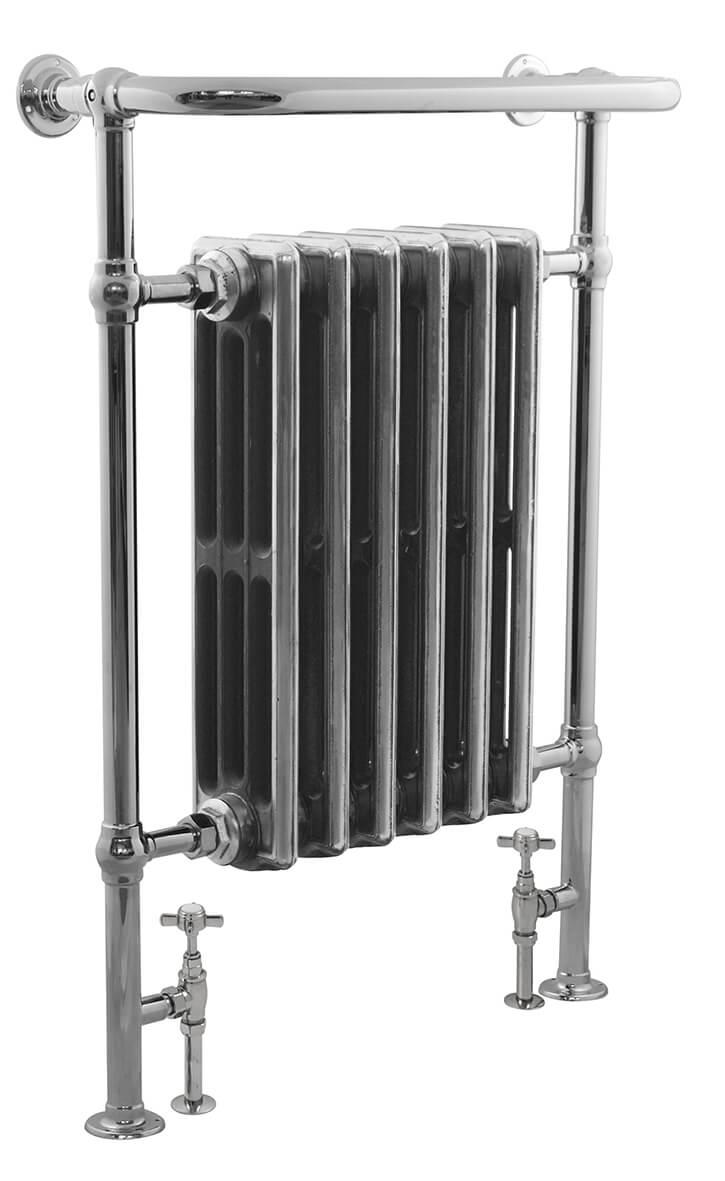 carron 39 the broughton 39 chrome towel rail cast iron. Black Bedroom Furniture Sets. Home Design Ideas