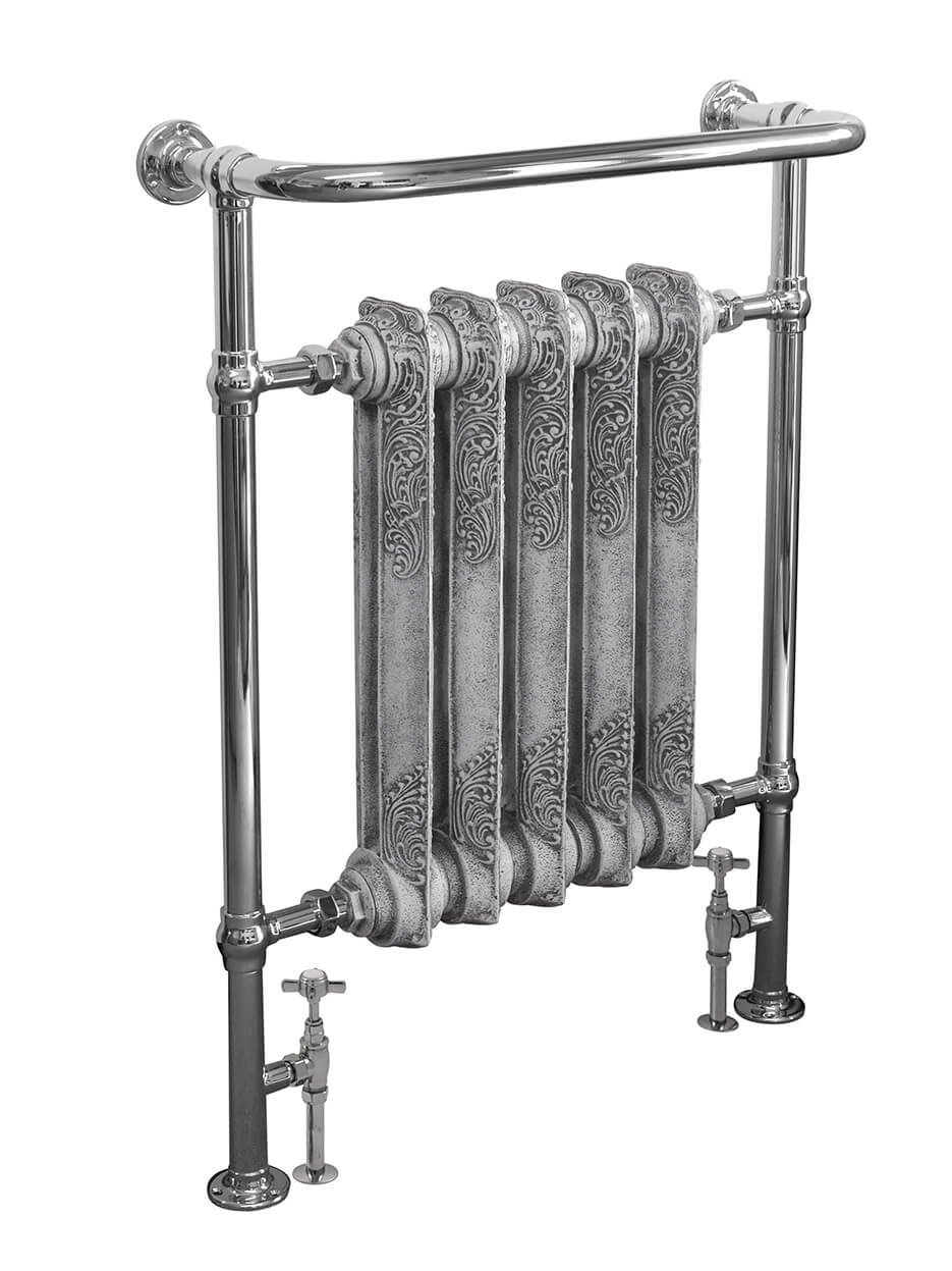 carron 39 the wilsford 39 chrome towel rail cast iron. Black Bedroom Furniture Sets. Home Design Ideas