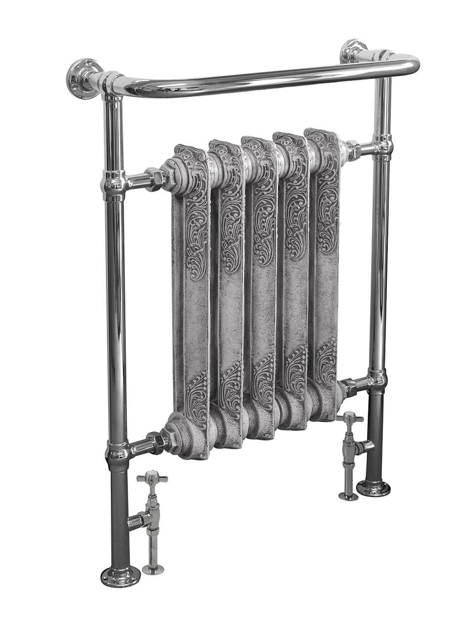 carron 39 the wilsford 39 chrome towel rail cast iron. Black Bedroom Furniture Sets. Home Design Ideas