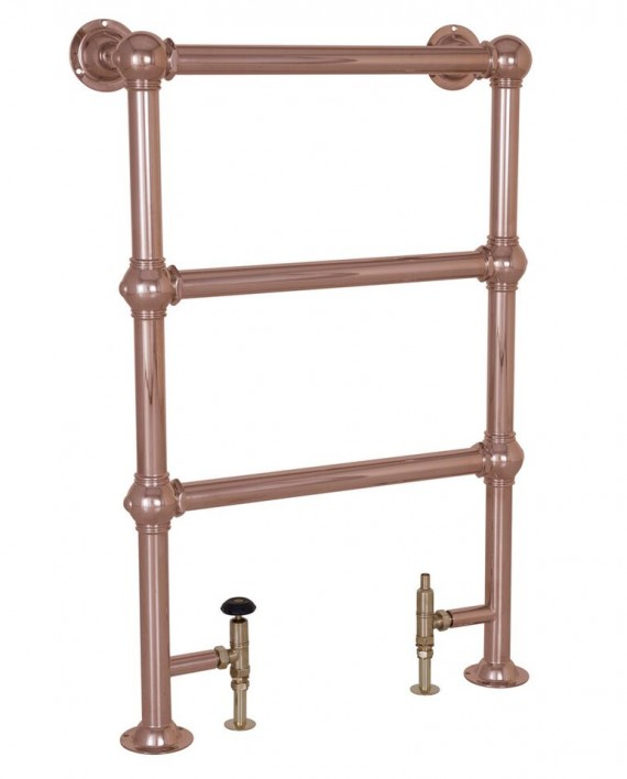 Carron Colossus Horse Steel Towel Rail For Sale: Carron 'The Colossus' 3 Bar Copper Towel Rail Radiator