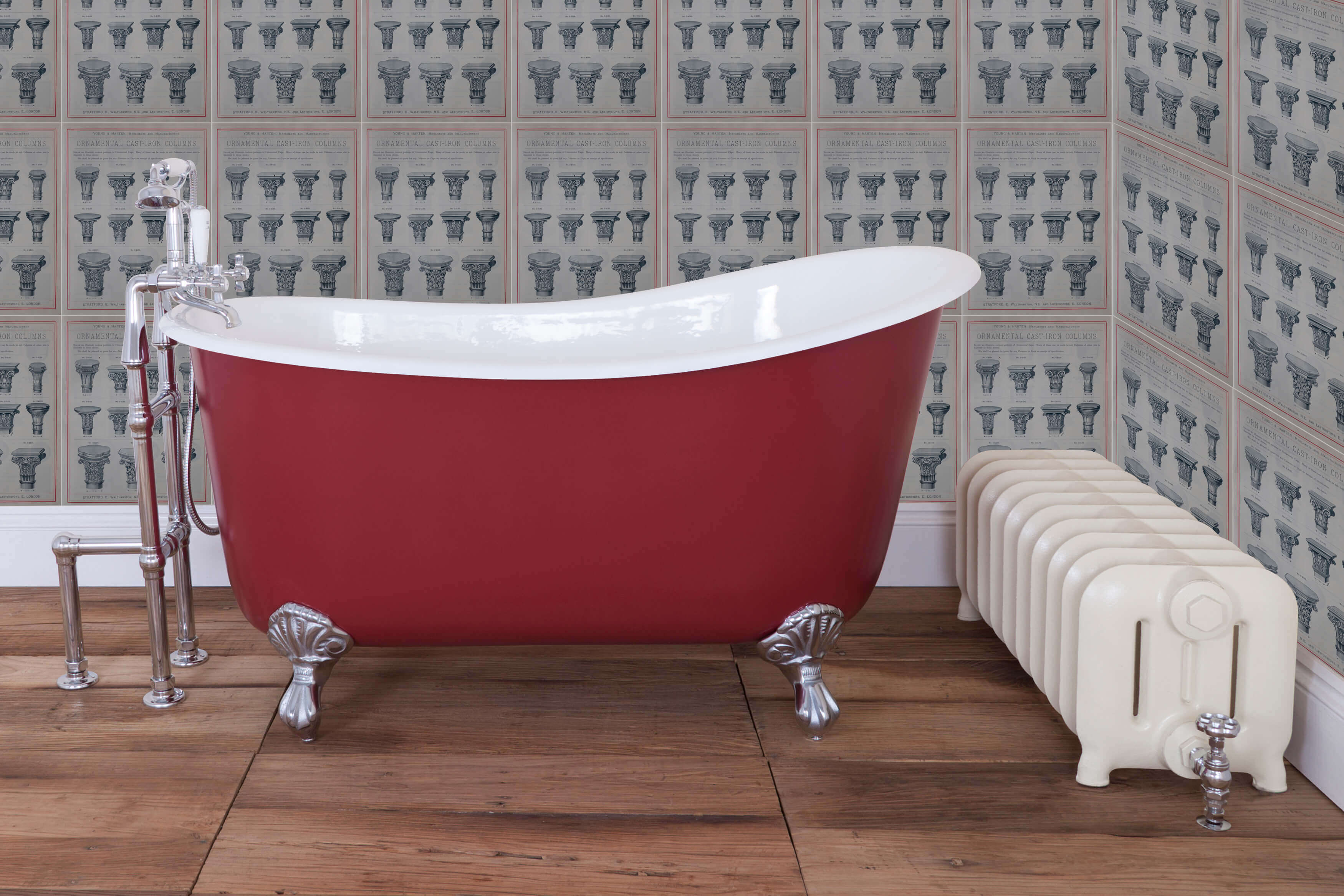 Lyon\' Single Slipper Cast Iron Bath - Warwick Reclamation