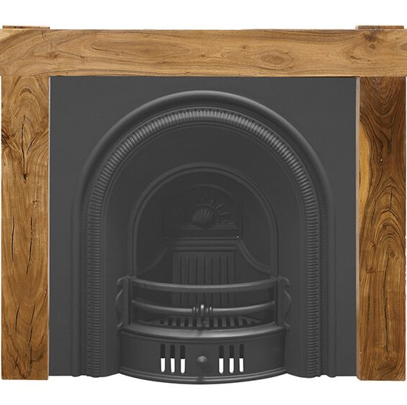 The beckingham arched black cast iron fireplace insert