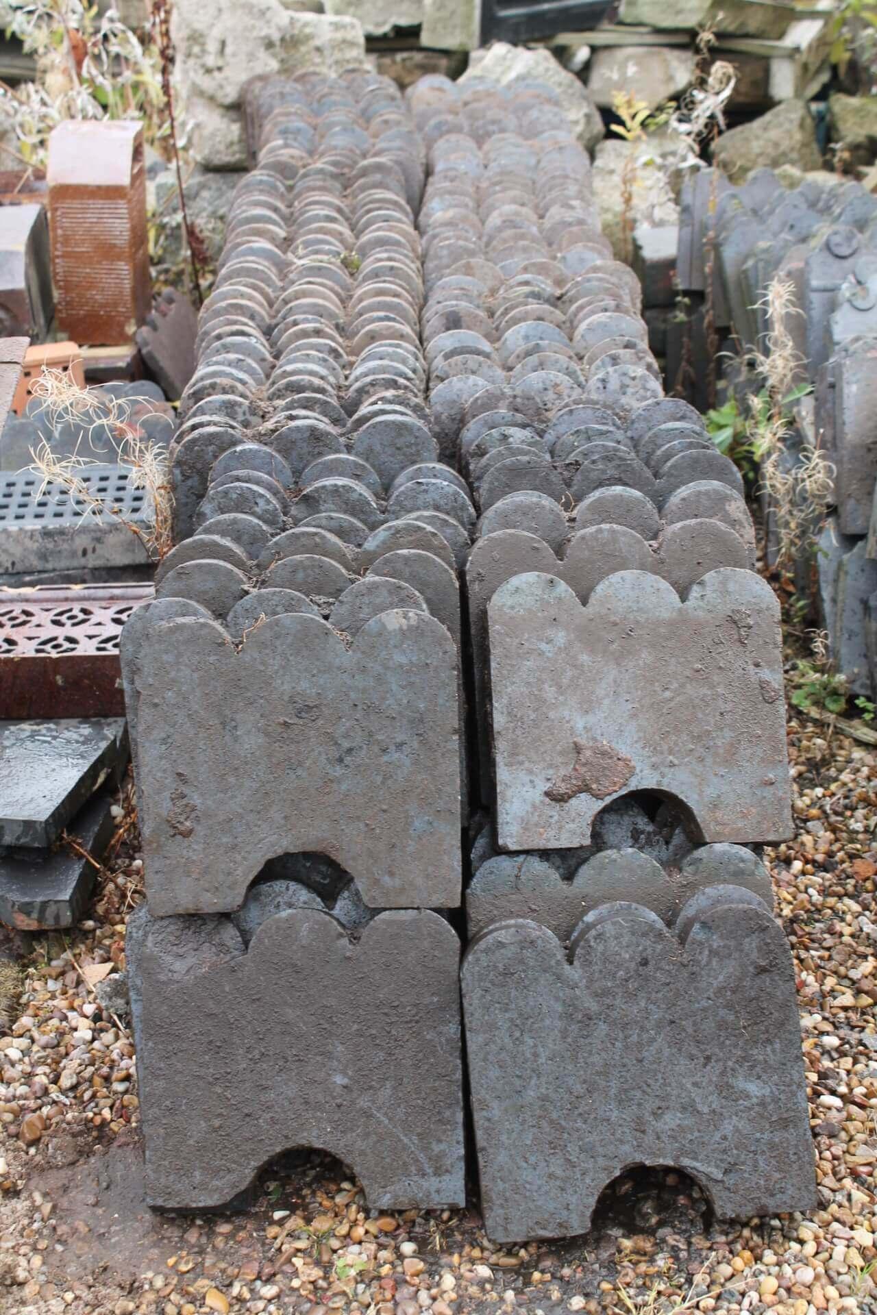 Reclaimed Blue Clay Victorian Garden Edging Tiles U2013 3 Hump