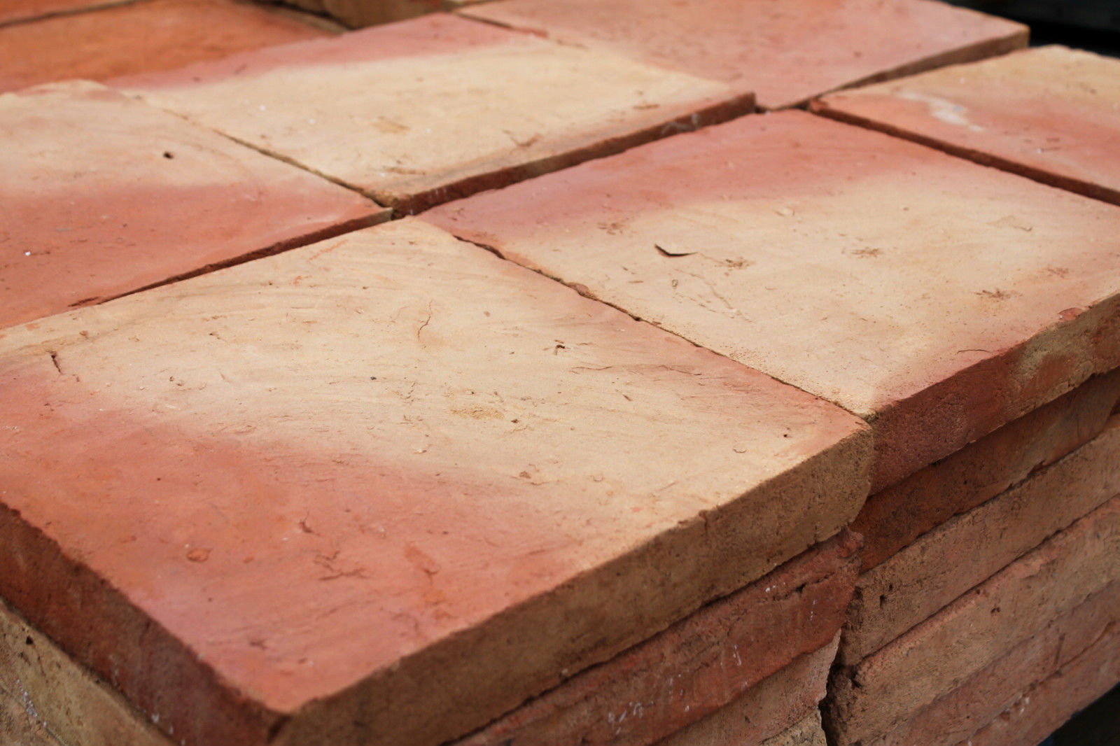 Reclaimed 12x12 Inch Buff Orange Red Clay Quarry Tiles