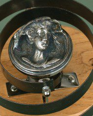 bell with lady disc NICKEL
