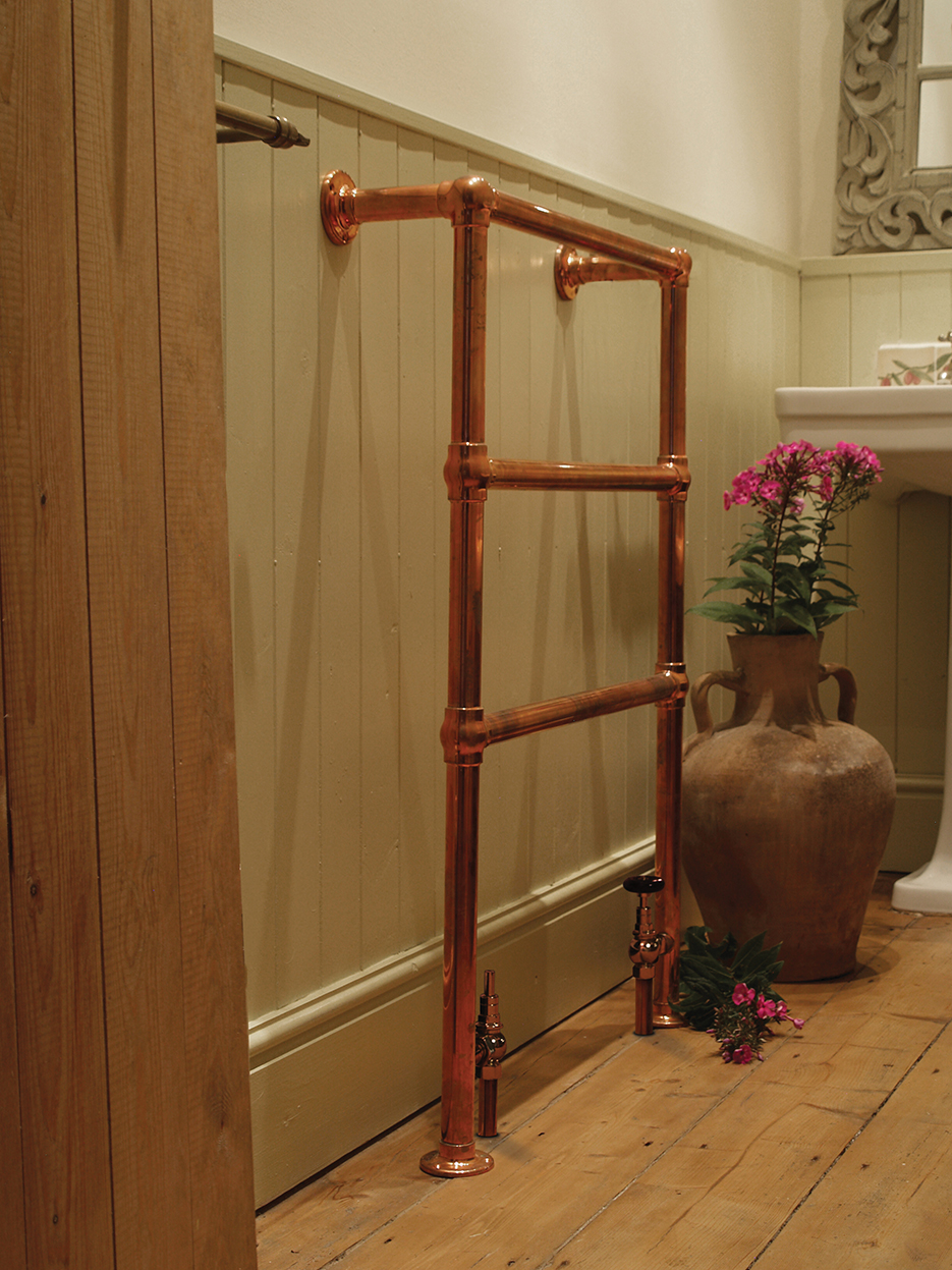 Carron The Beckingham 3 Bar Copper Towel Rail Radiator