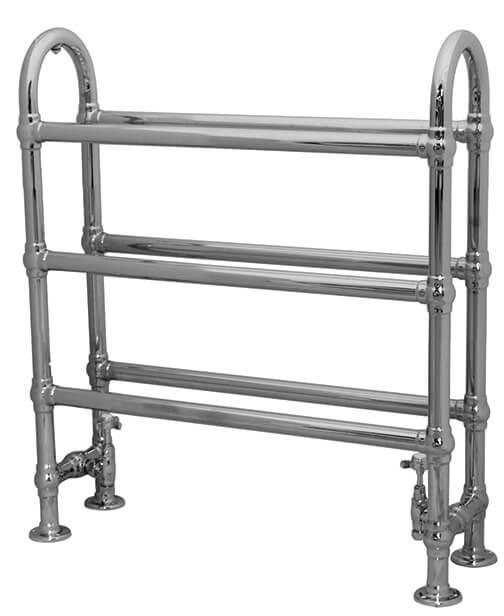 Carron Colossus Horse Steel Towel Rail For Sale: Carron 'The Ermine' Small 6 Bar Chrome Towel Rail Radiator