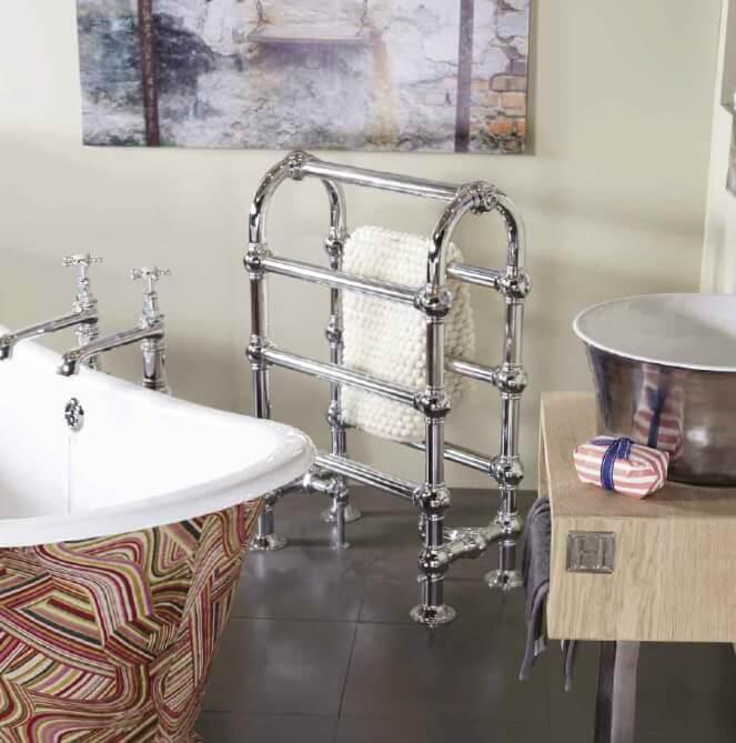 Carron Colossus Horse Steel Towel Rail For Sale: Carron 'The Colossus' Horse Large 7 Bar Chrome Towel Rail