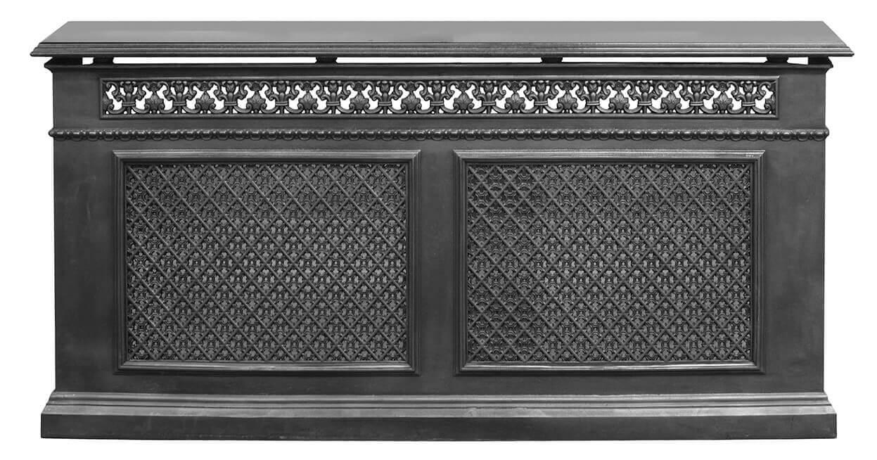 Carron large cast iron radiator cover granite top - Cast iron radiator covers ...