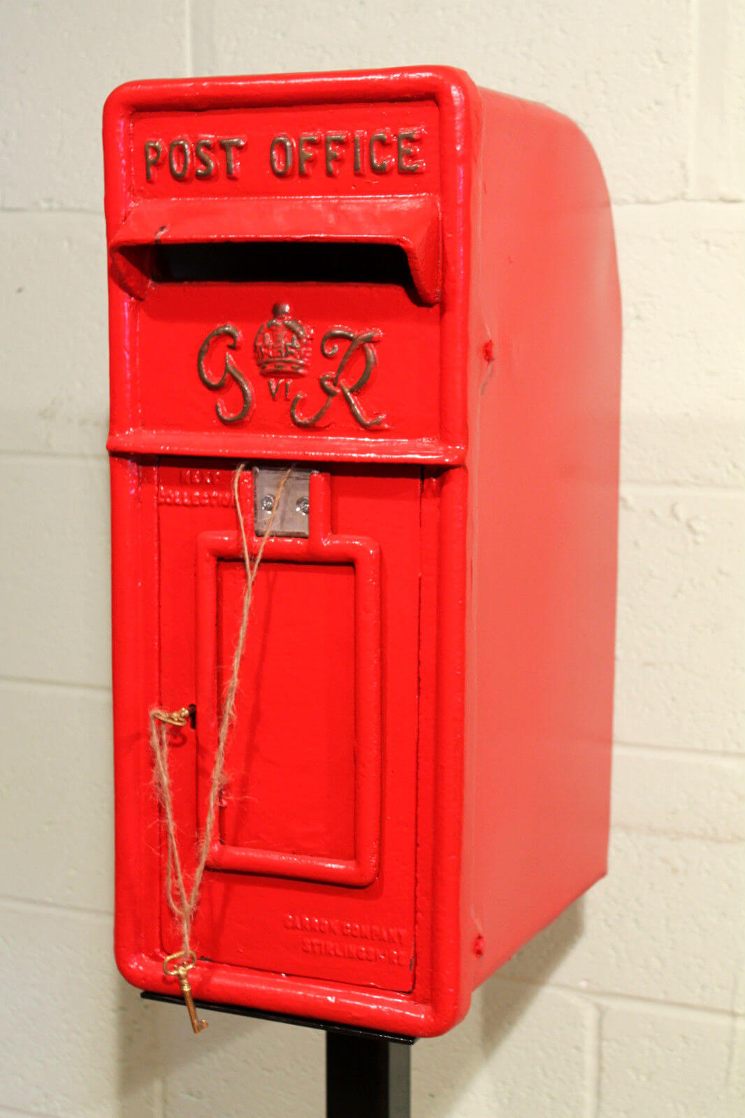 Royal Mail Letter Box.Antique British Royal Mail King George 6th Red Post Box