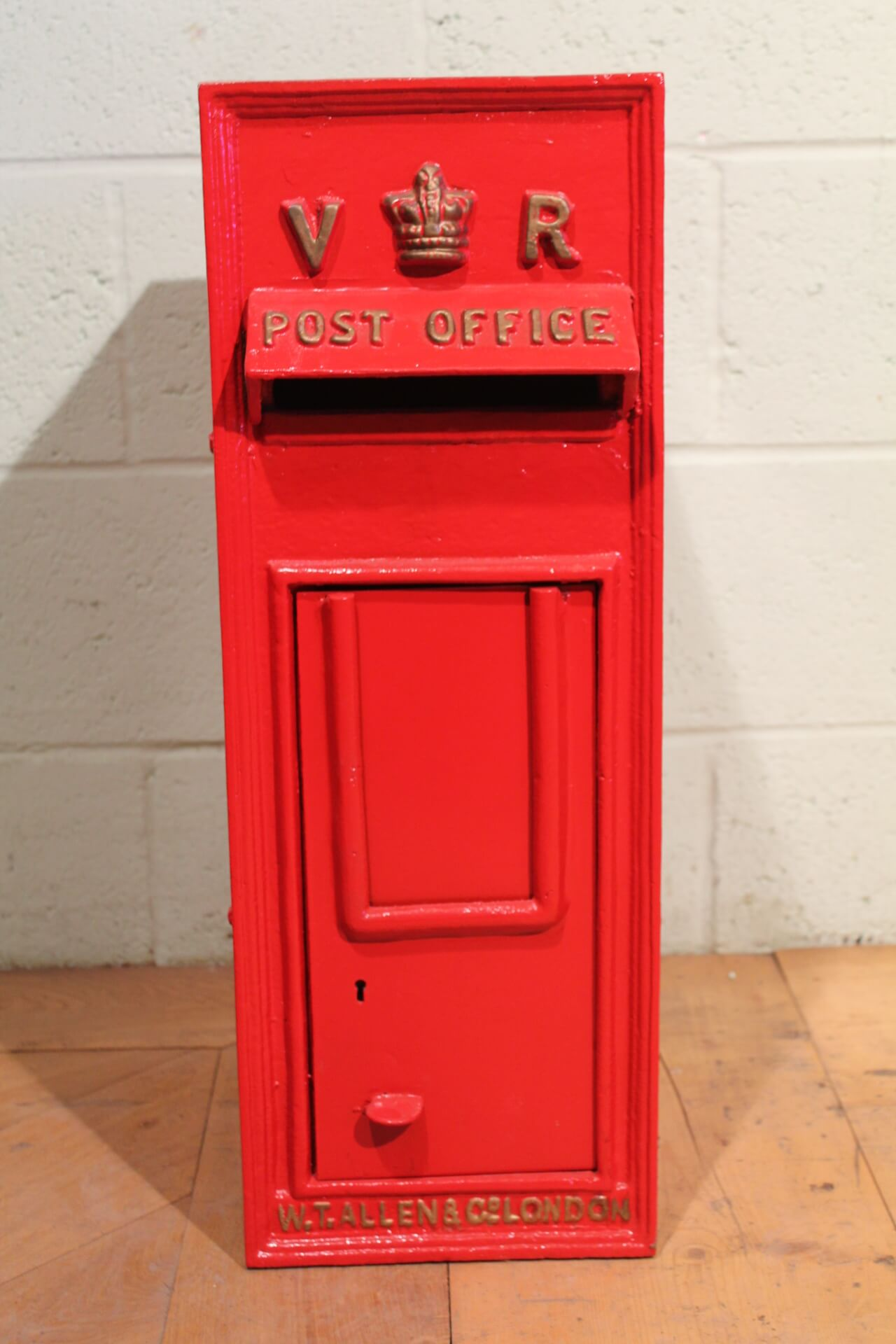 Antique British Royal Mail Queen Victoria Red Post Box