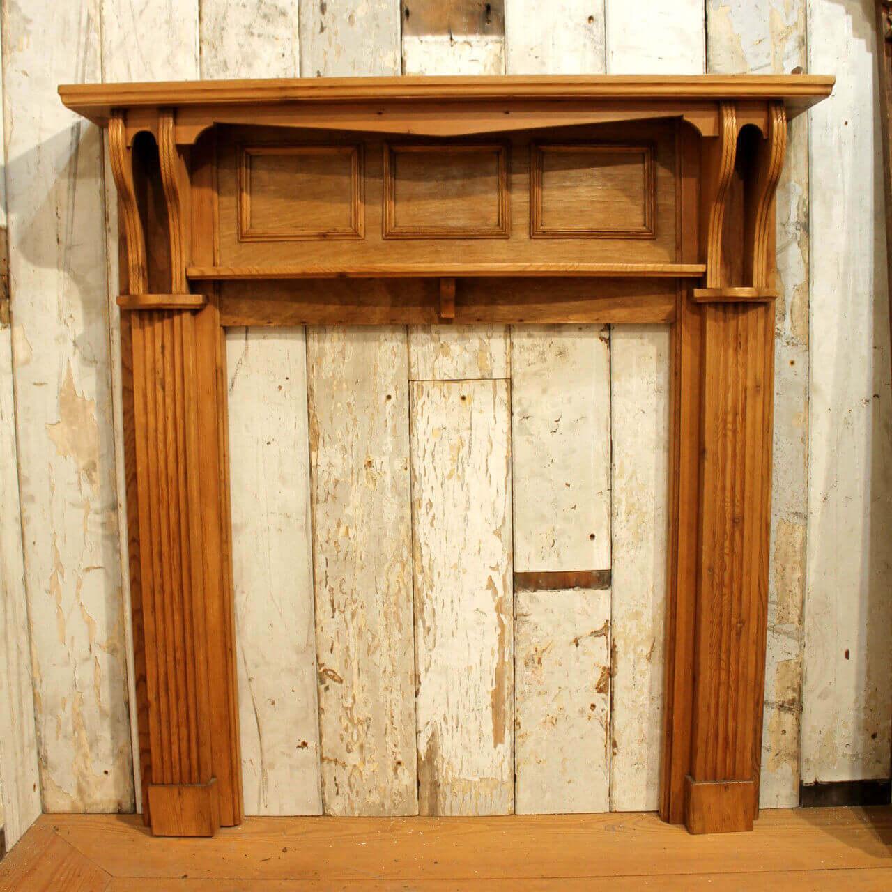 Bespoke Hand Crafted Pine Fireplace Surround Warwick Reclamation
