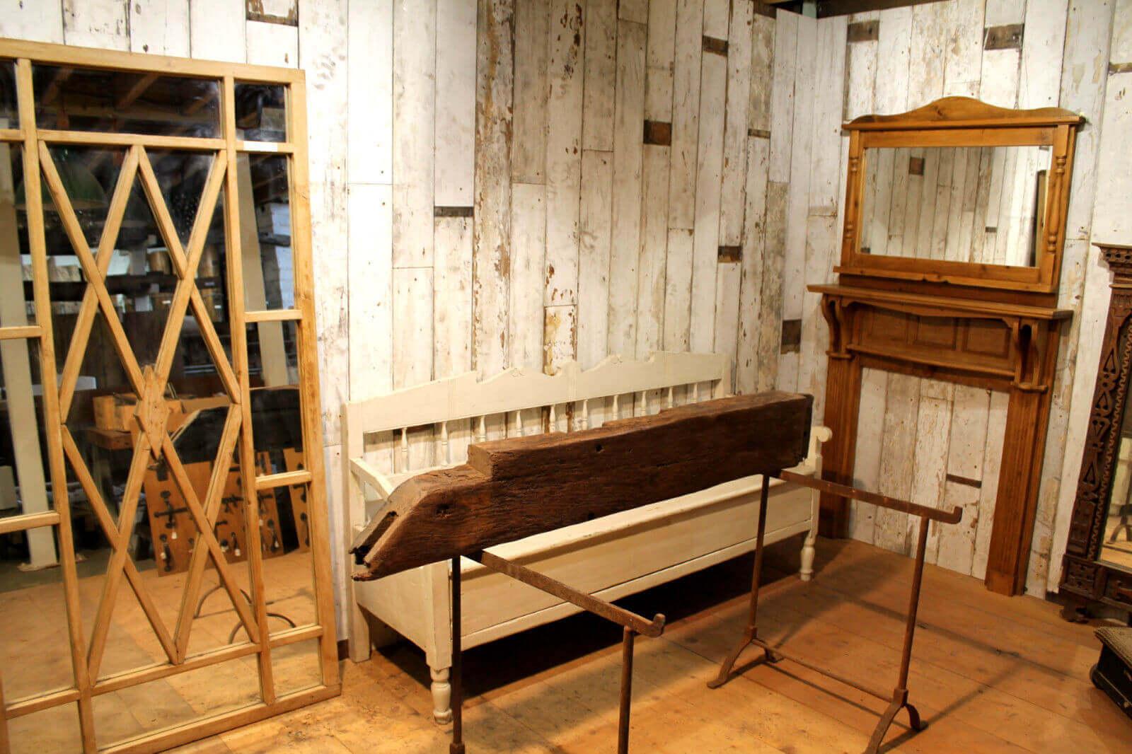 Ob014 Reclaimed English Oak Beam Inglenook Fireplace