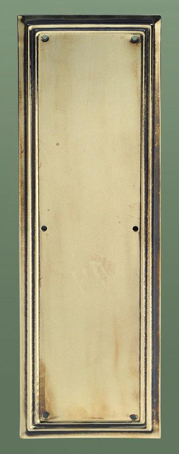 Finger plate Lincoln brass