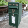 Antique Irish Green With Harp Design Post Box