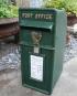 Antique Irish Green With Harp Design Post Box