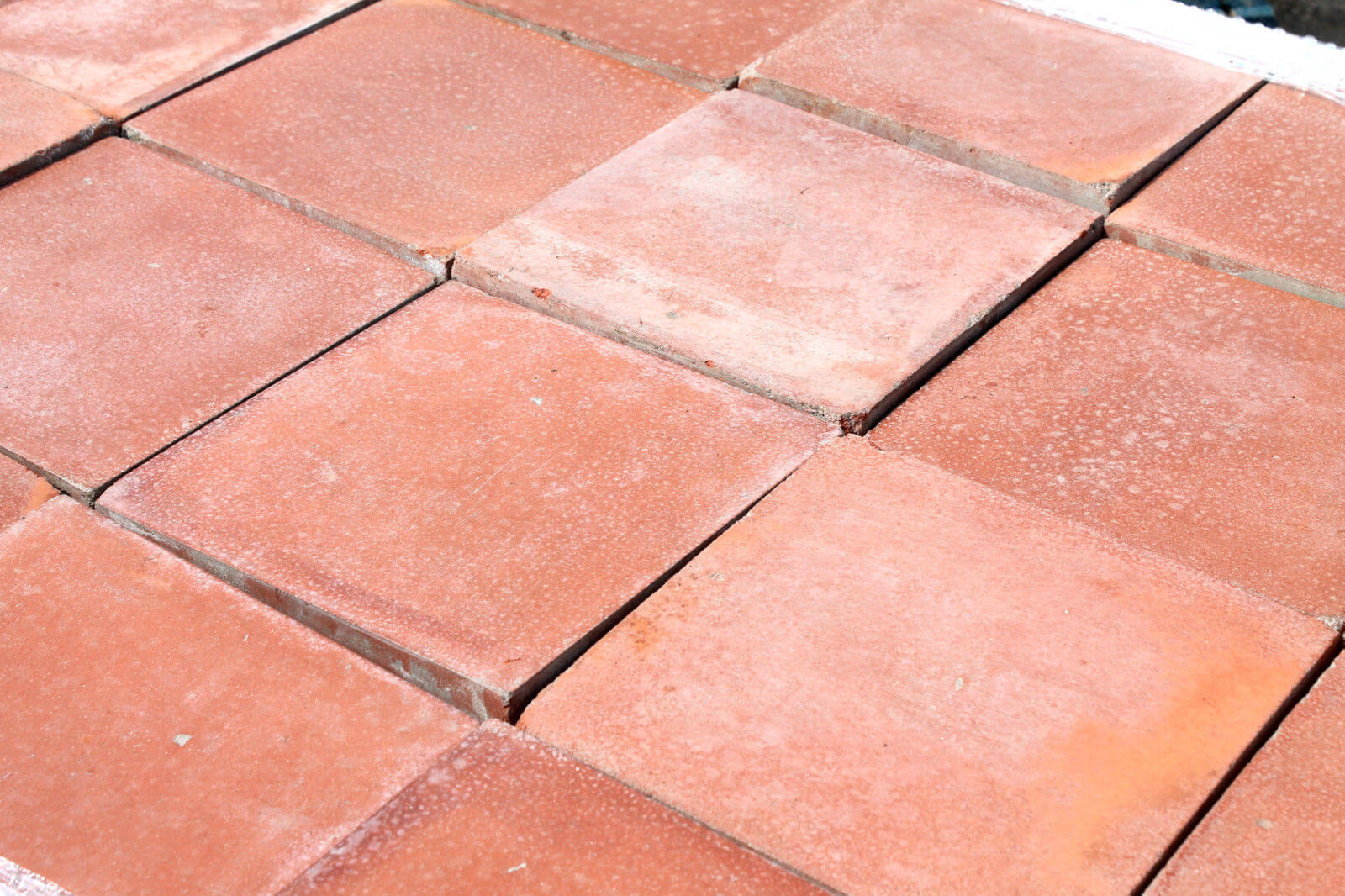 Reclaimed 9 X 9 Inch Terracotta Red Quarry Tiles Warwick Reclamation