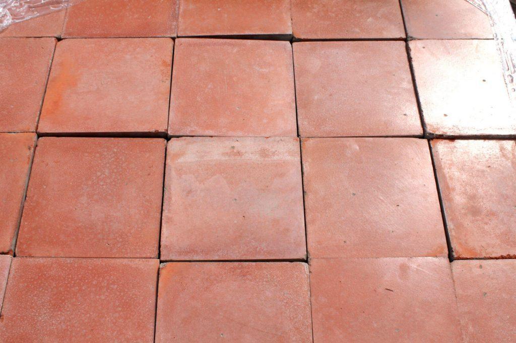 Reclaimed 9 X 9 Inch Terracotta Red Quarry Tiles