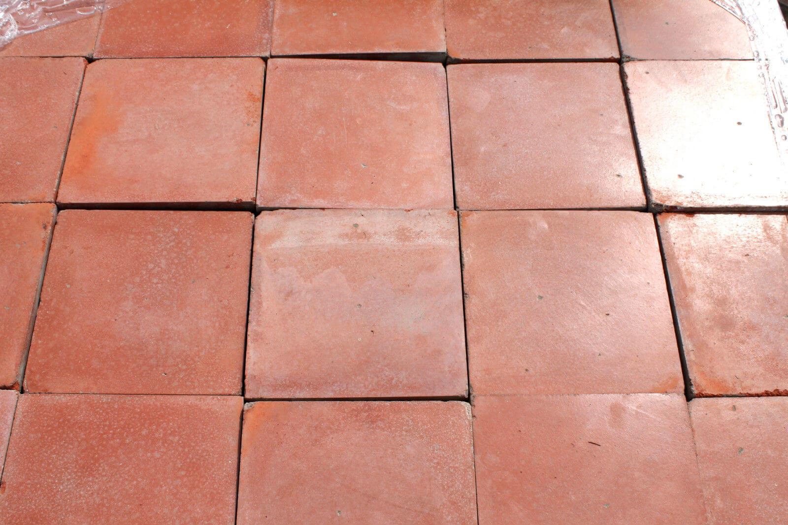 Reclaimed 9 X Inch Terracotta Red Quarry Tiles