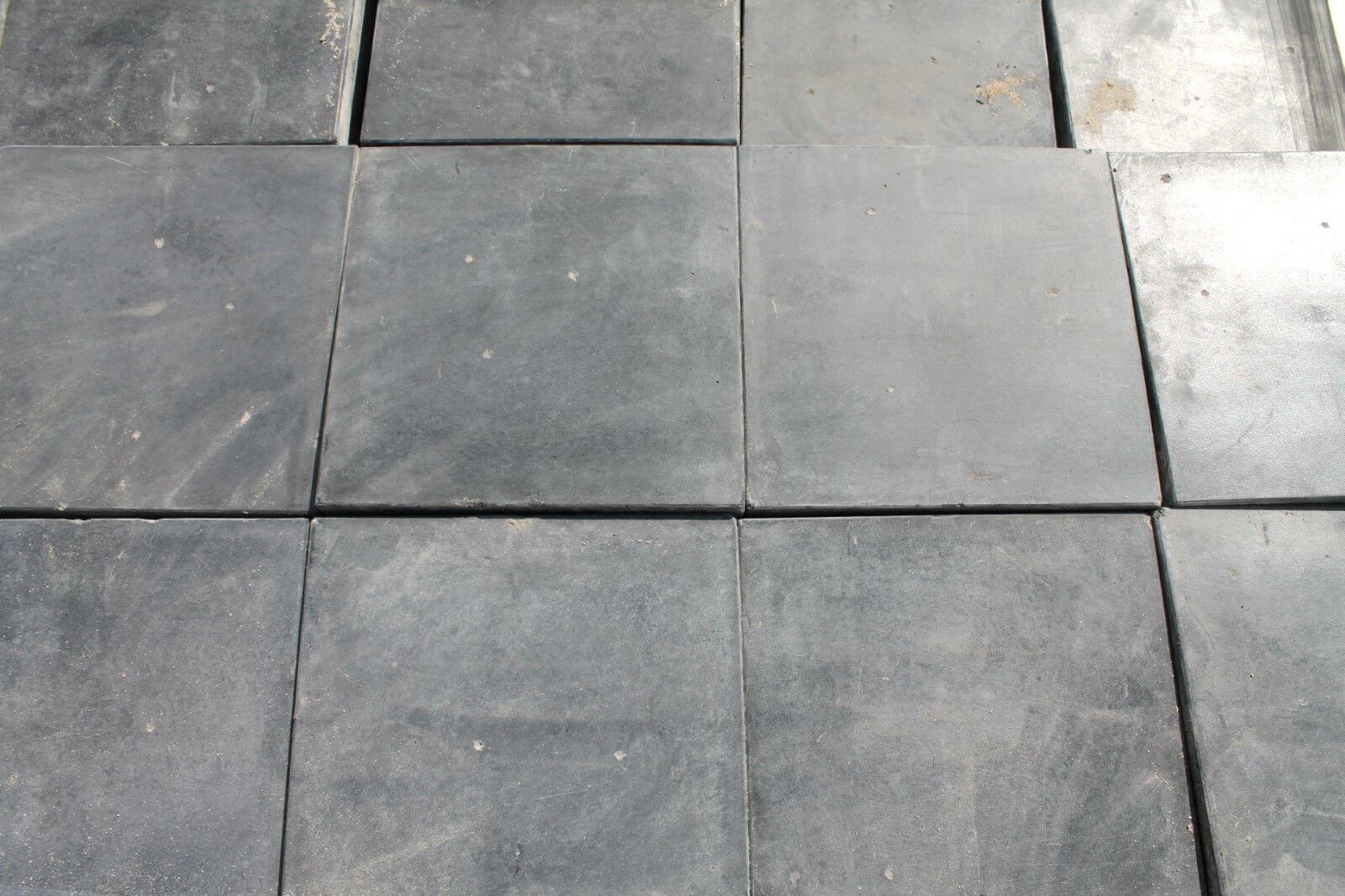 Reclaimed 9 x 9 Inch Blue Quarry Tiles