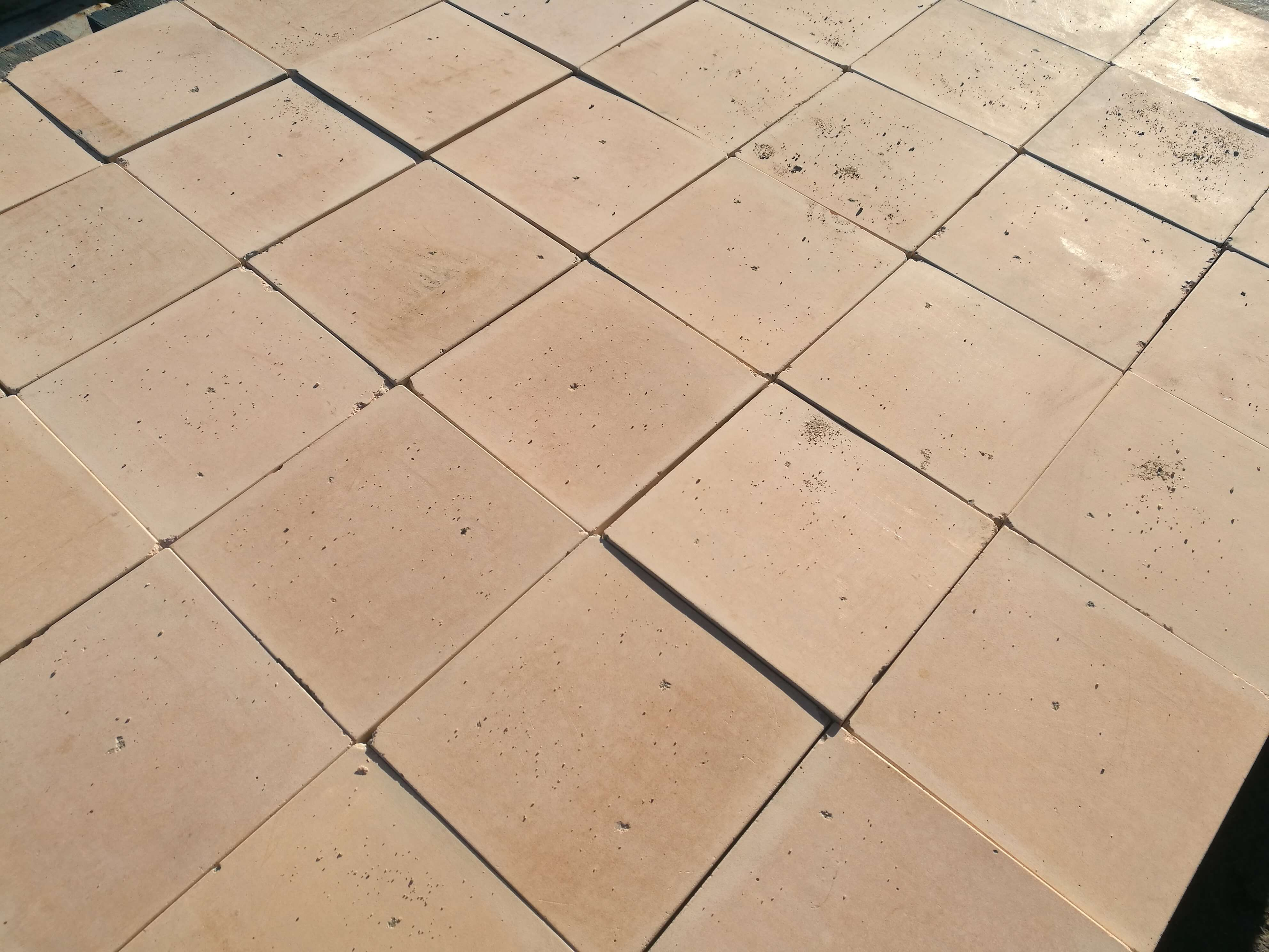 Reclaimed 6x6 Inch 150x150mm Buff Quarry Tiles Warwick Reclamation