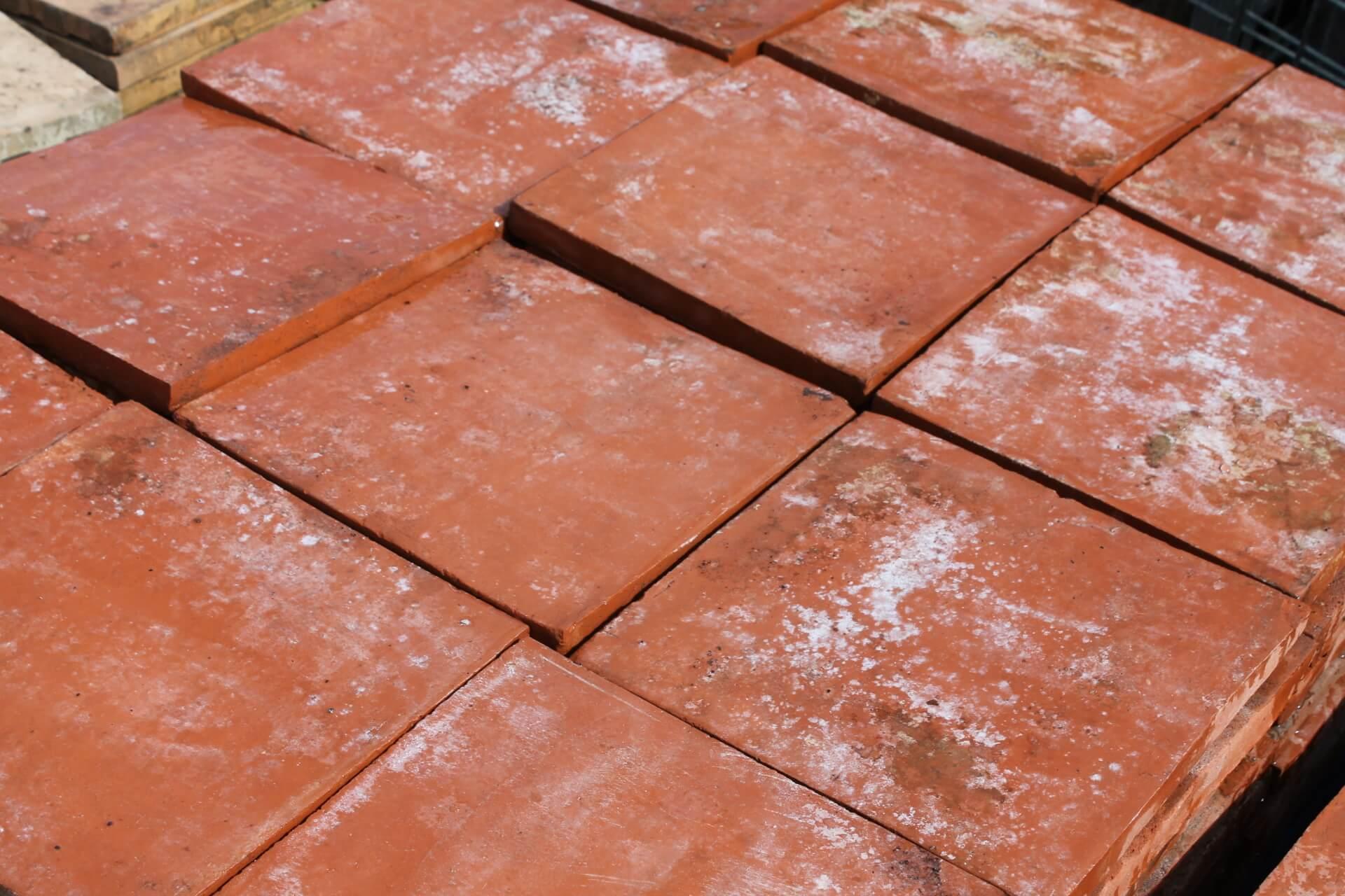 Z Reclaimed 11 X 11 Inch Terracotta Red Quarry Tiles
