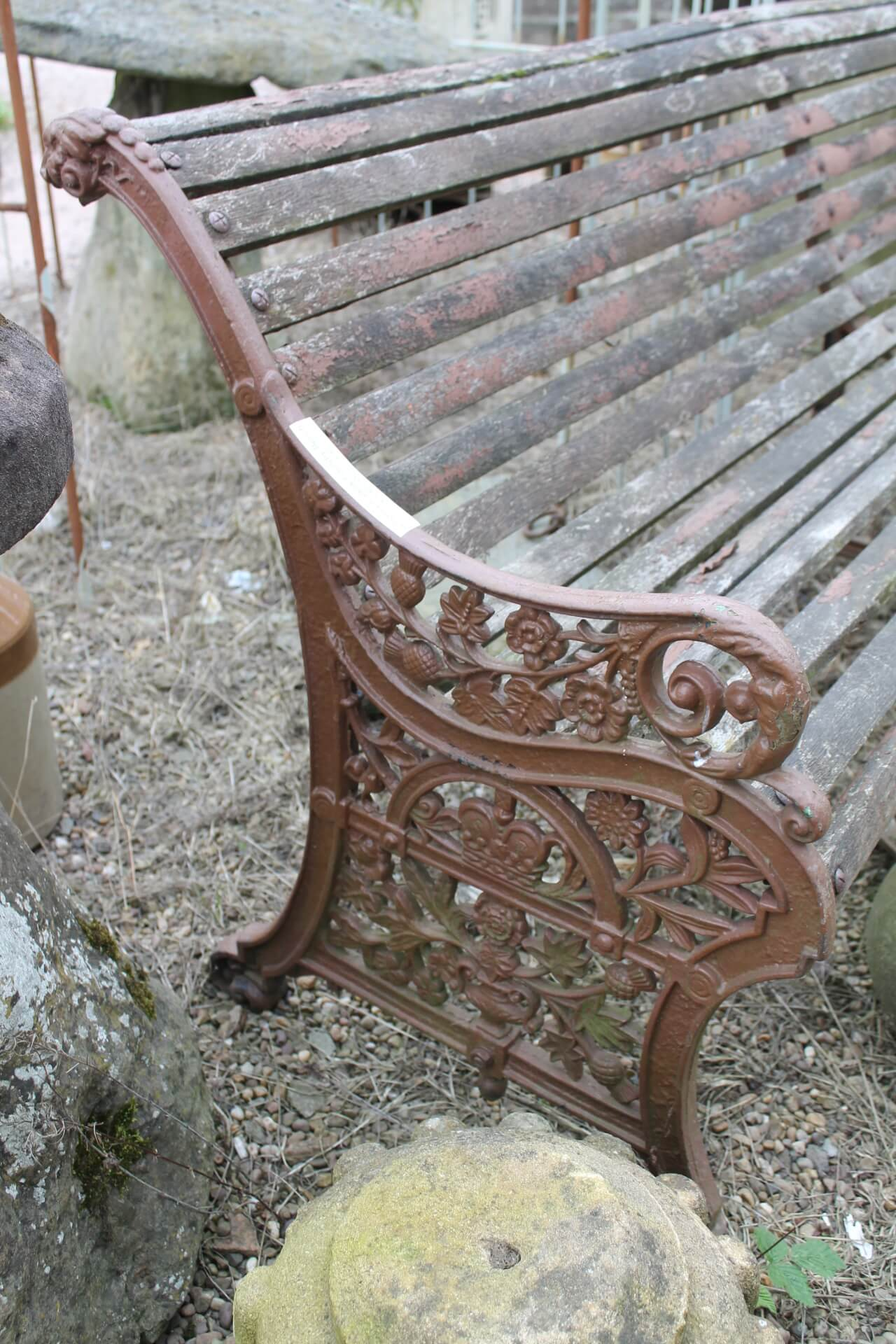 Original Antique C19 Falkirk Foundry Cast Iron Amp Hardwood