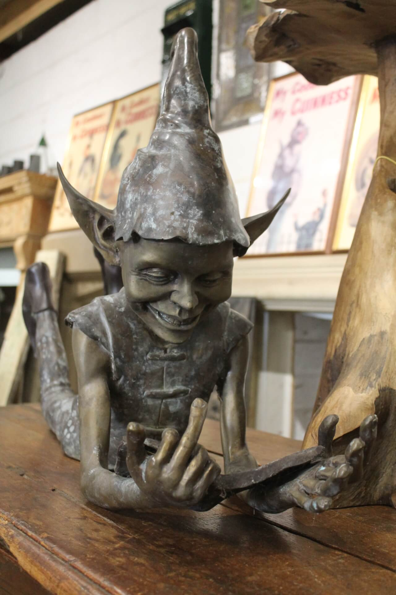 z* SOLD - Similar Wanted - Large Bronze Pixie / Elf ...