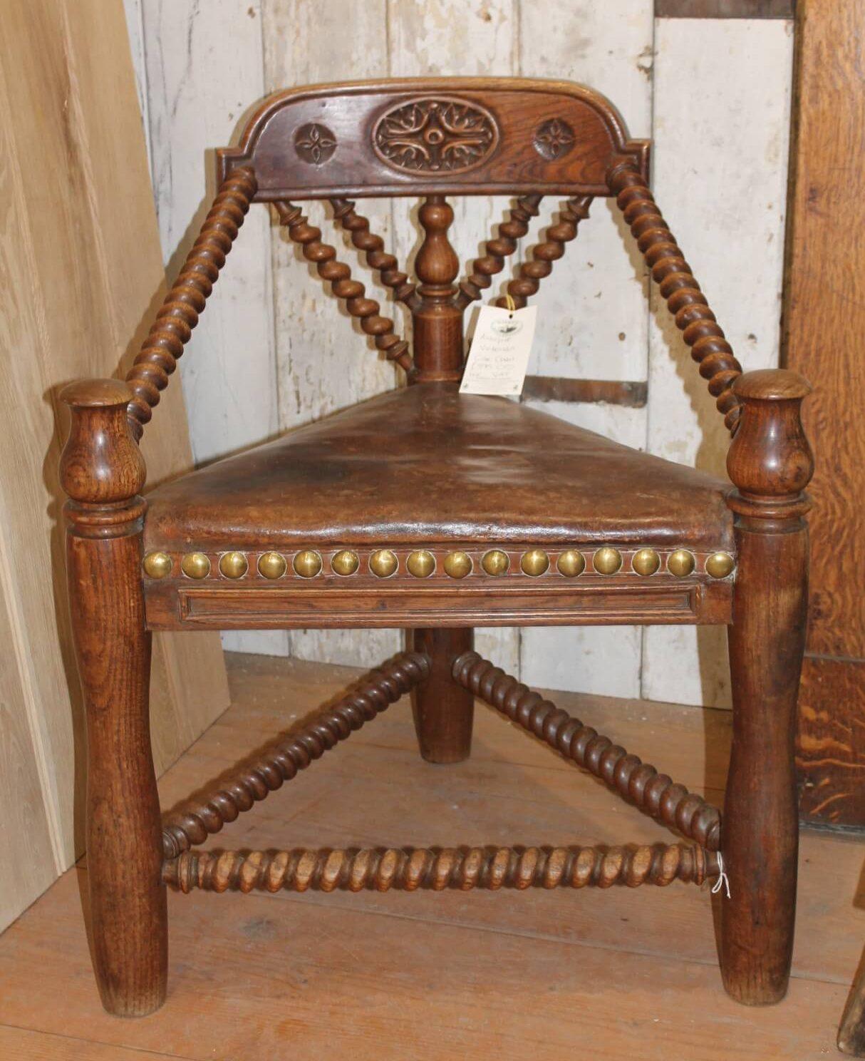 Original Period Antique Victorian Oak Chair Warwick